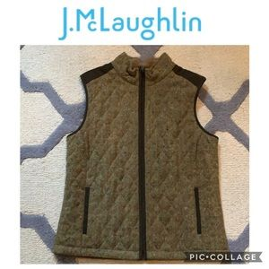 J. McLaughlin Tweed Sweater Vest Large